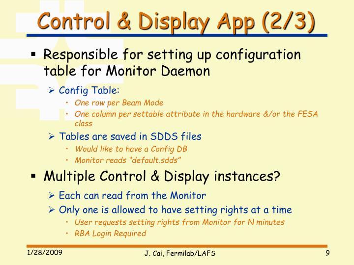 Control & Display App (2/3)