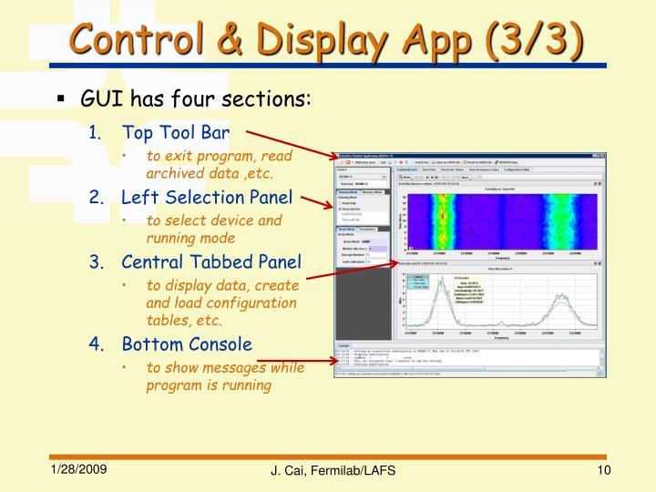 Control & Display App (3/3)