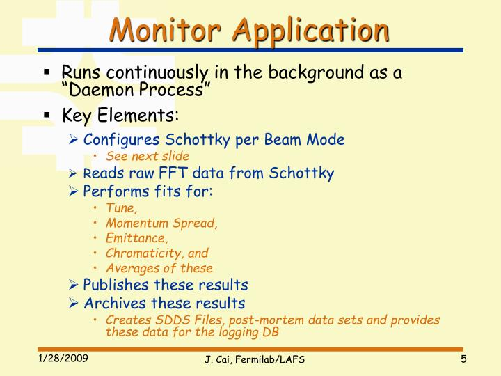 Monitor Application