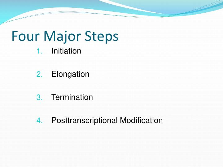 Four Major Steps
