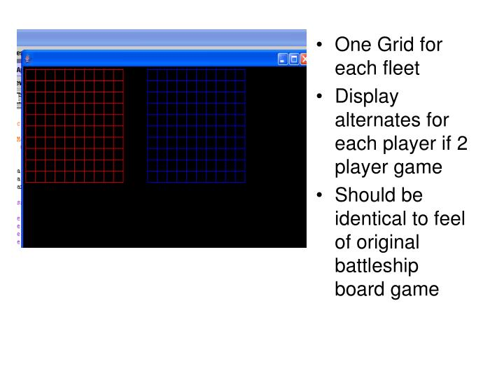One Grid for each fleet