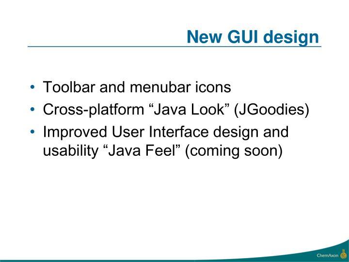 New GUI design