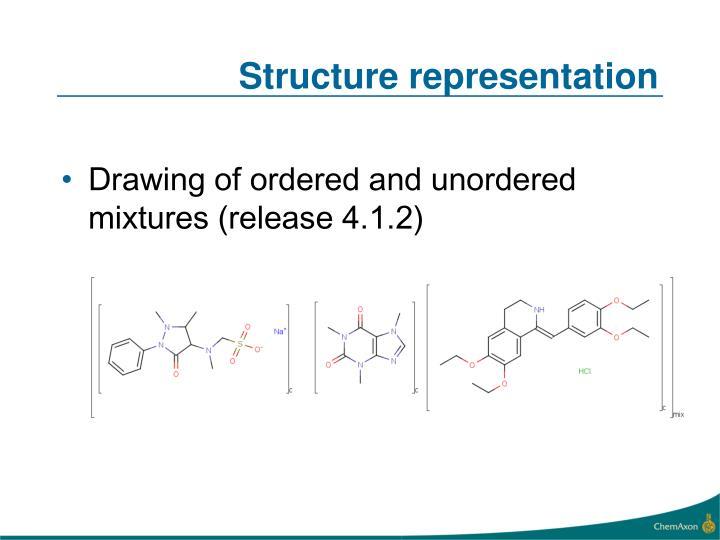 Structure representation
