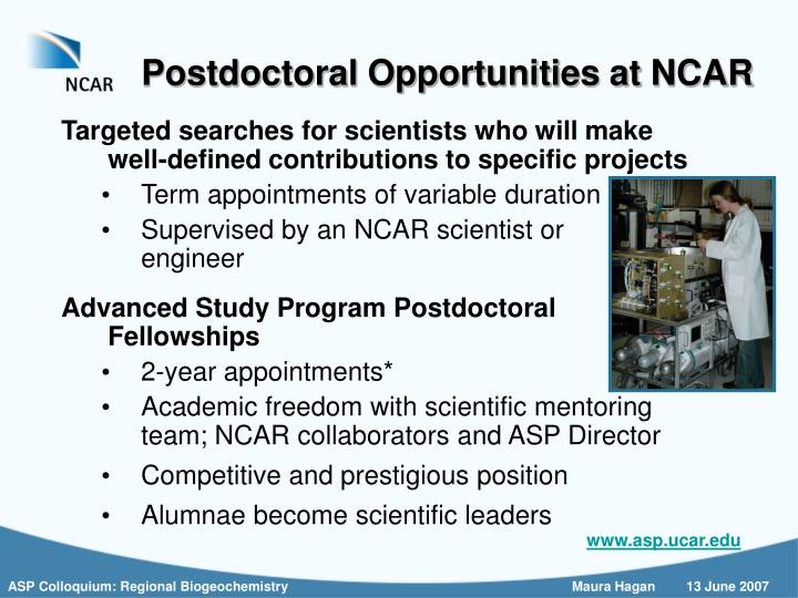 Postdoctoral Opportunities at NCAR