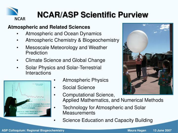 NCAR/ASP Scientific Purview