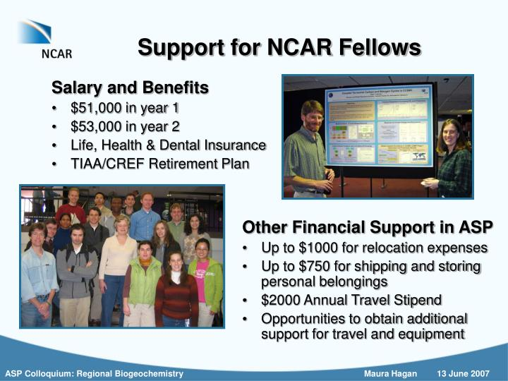 Support for NCAR Fellows