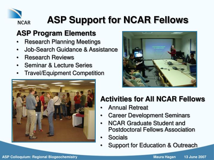 ASP Support for NCAR Fellows