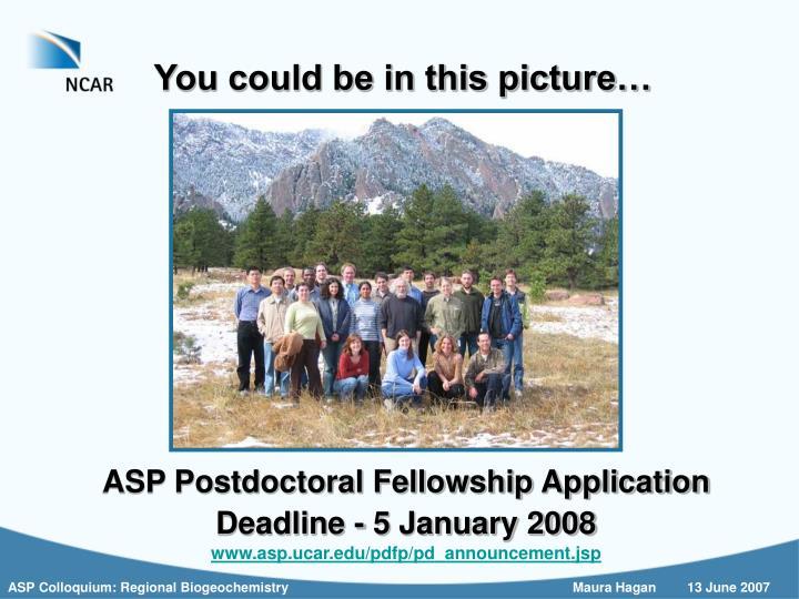 ASP Postdoctoral Fellowship Application