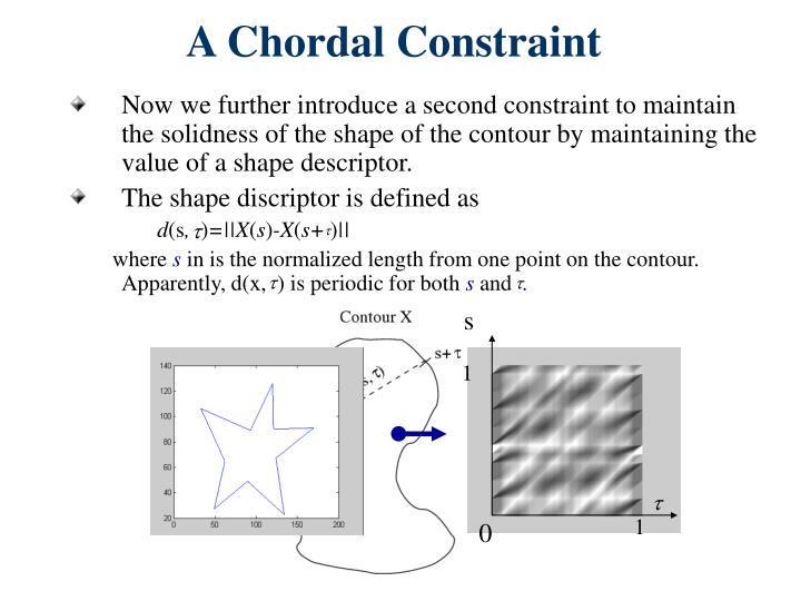 A Chordal Constraint