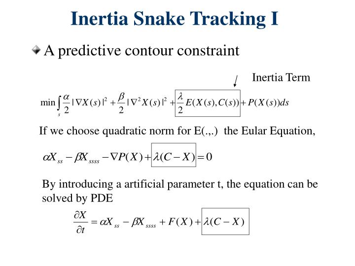 Inertia Snake Tracking I