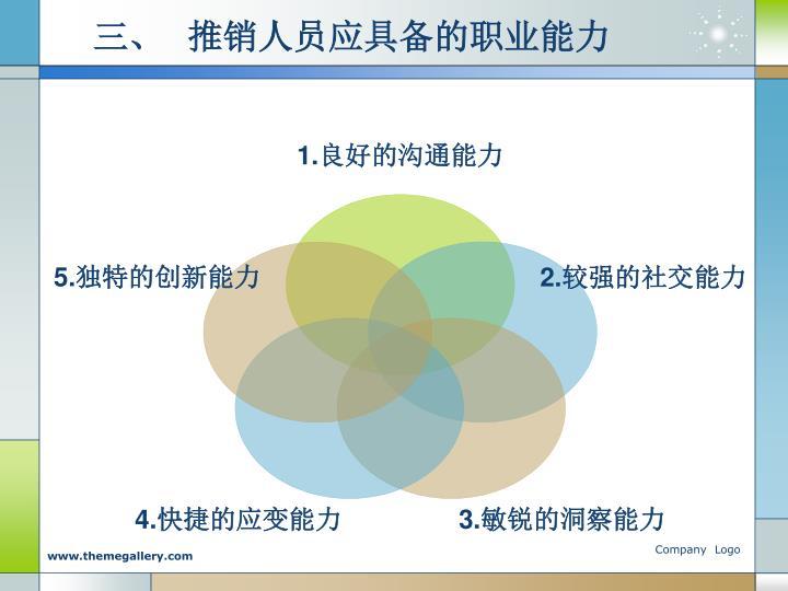 三、  推销人员应具备的职业能力