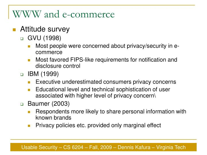 WWW and e-commerce