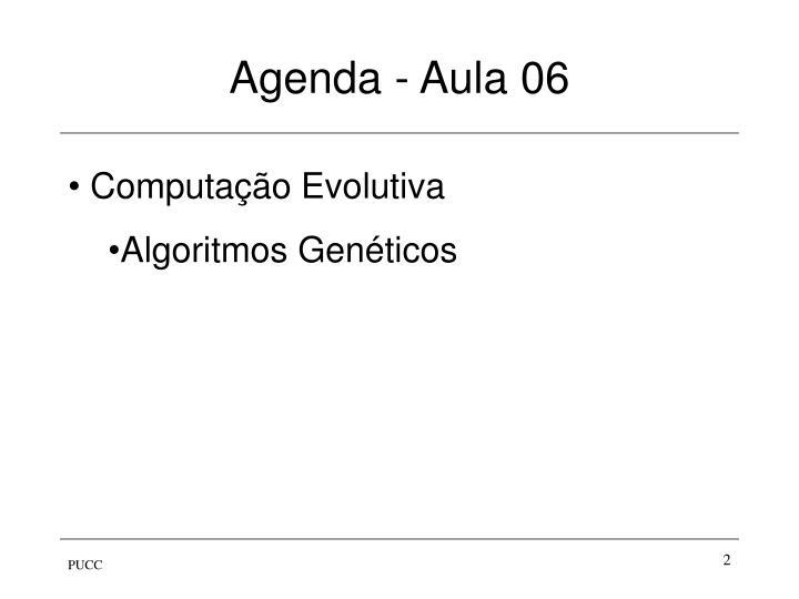 Agenda - Aula 06