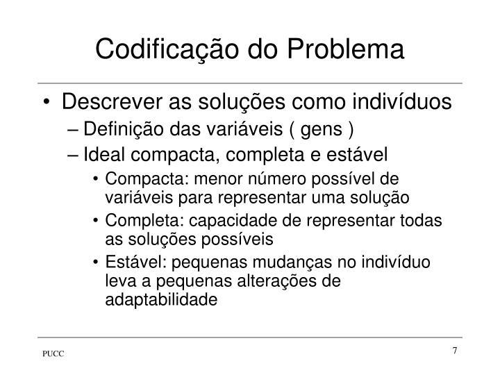Codificação do Problema