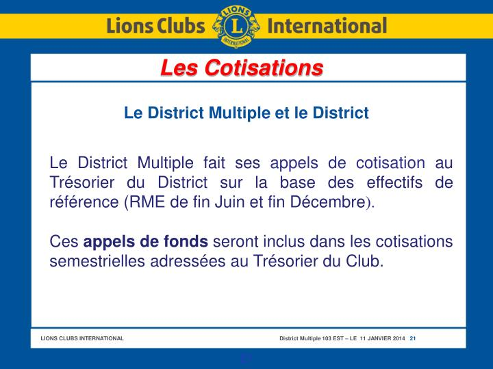Le District Multiple et le District