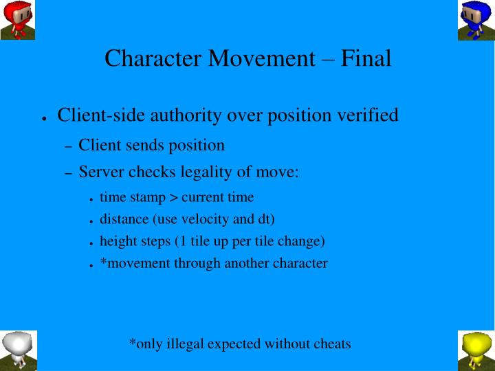 Character Movement – Final