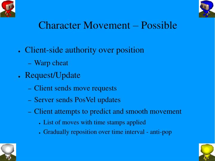 Character Movement – Possible