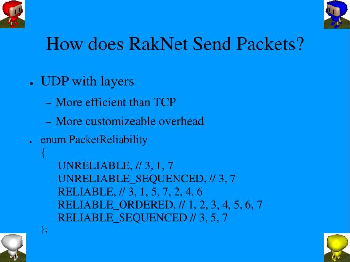 How does RakNet Send Packets?