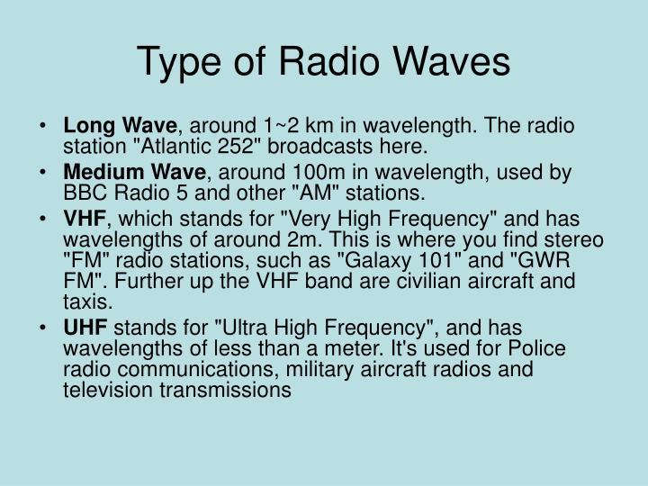 Type of Radio Waves