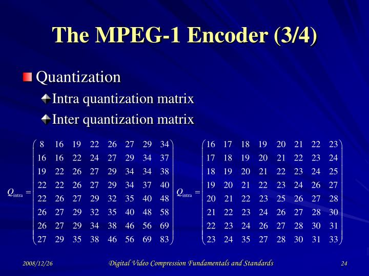 The MPEG-1 Encoder (3/4)
