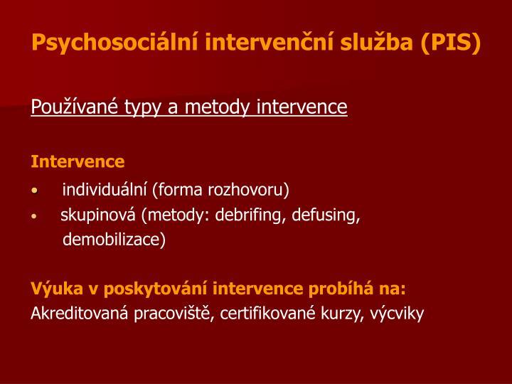Psychosociální intervenční služba (PIS)