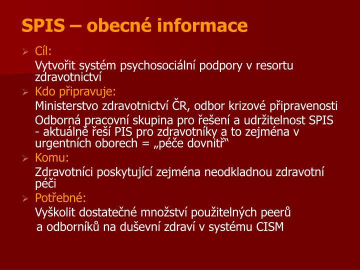 SPIS – obecné informace