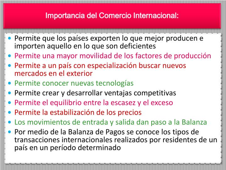 Ppt fundamentos de comercio internacional powerpoint for Comercio exteriro