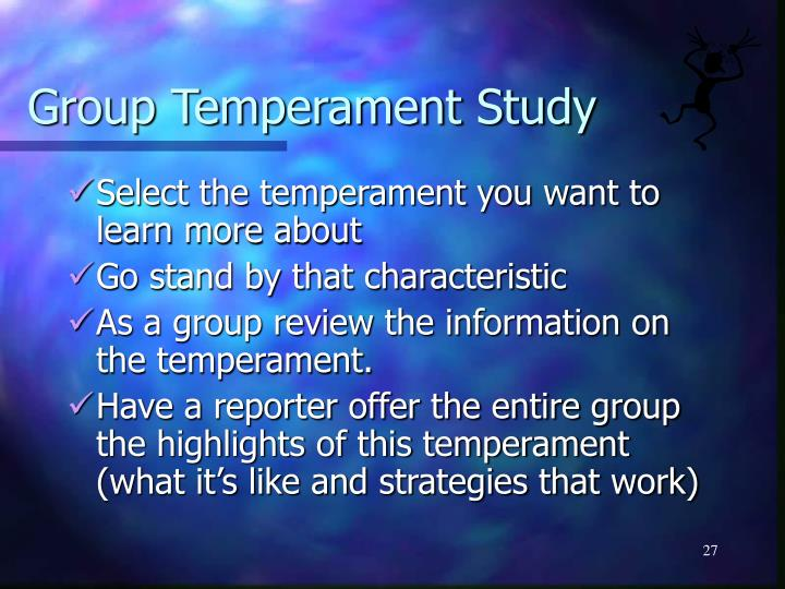 Group Temperament Study