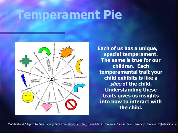 Each of us has a unique, special temperament.  The same is true for our children.  Each temperamental trait your child exhibits is like a