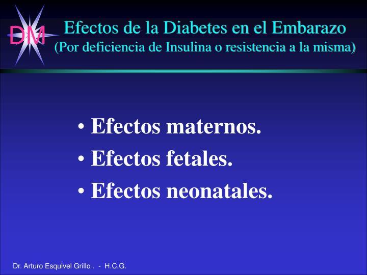 Efectos de la Diabetes en el Embarazo
