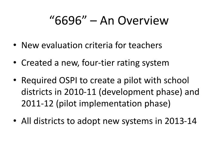 """6696"" – An Overview"