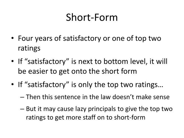 Short-Form