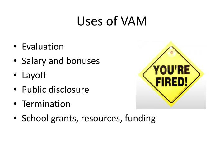Uses of VAM