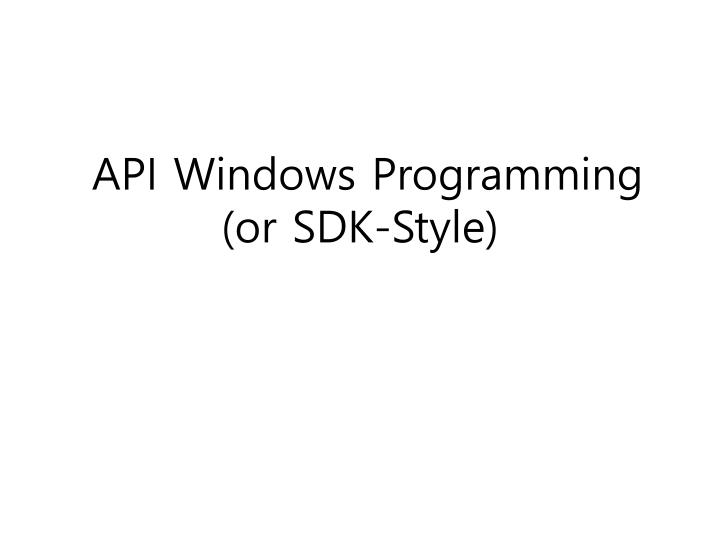 API Windows Programming