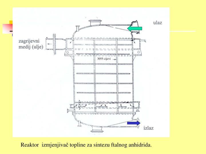 Reaktor  izmjenjivač topline za sintezu ftalnog anhidrida.
