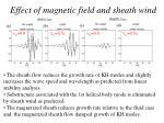effect of magnetic field and sheath wind