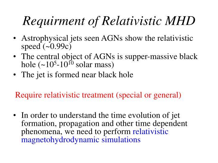 Requirment of Relativistic MHD