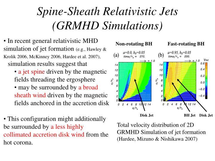 Spine-Sheath Relativistic Jets (GRMHD Simulations)