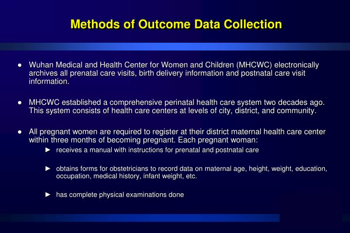 Methods of Outcome Data Collection