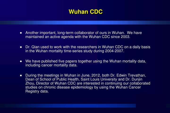 Wuhan CDC