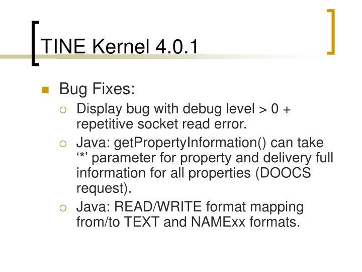 TINE Kernel 4.0.1