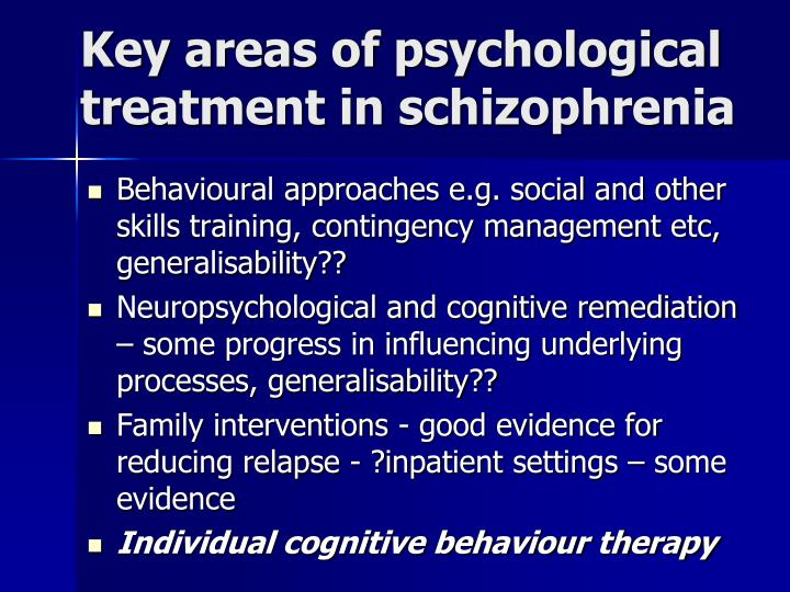 an assessment and recommendation for the treatment of a paranoid schizophrenic patient Psychosis and schizophrenia in adults: of people with psychosis or schizophrenia an assessment after treatment (as described in recommendation 1231.
