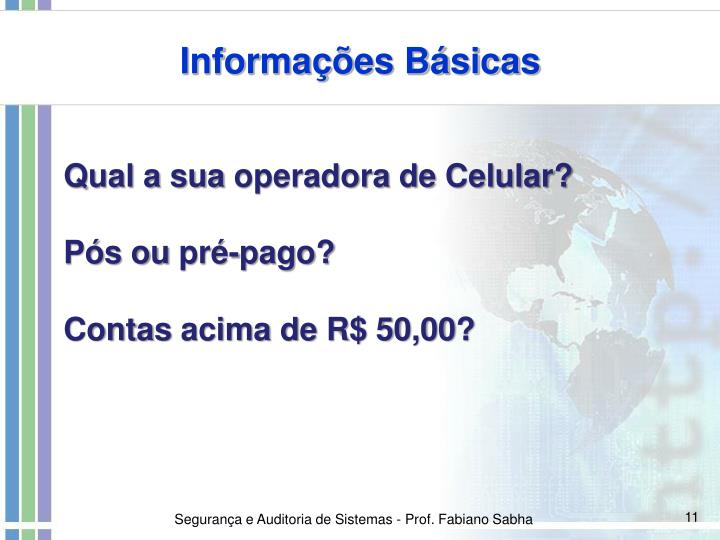 Informações Básicas