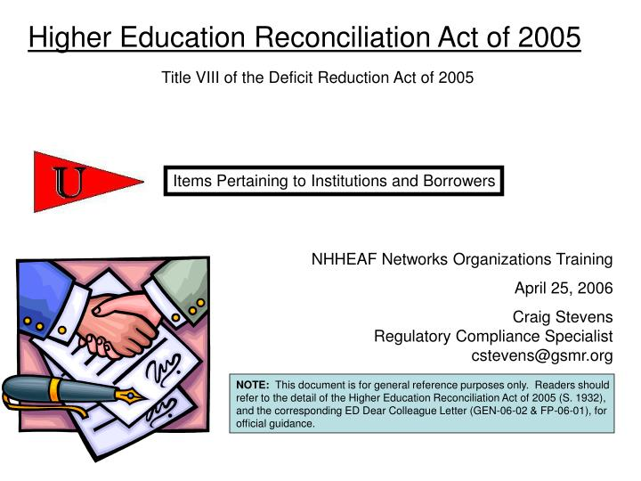 Higher Education Reconciliation Act of 2005