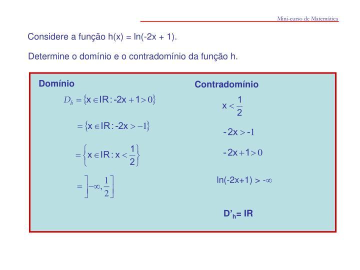 Mini-curso de Matemática