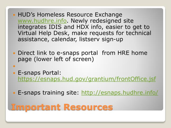 HUD's Homeless Resource
