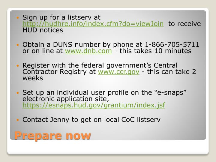 Sign up for a listserv at