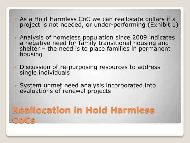 As a Hold Harmless