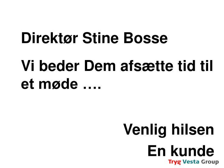 Direktør Stine Bosse