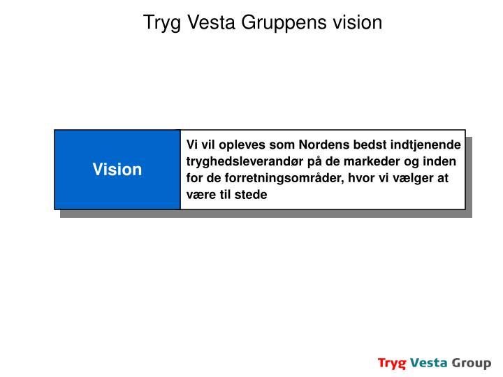 Tryg Vesta Gruppens vision